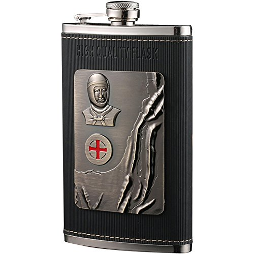 HELME-Luxury-Hip-Flask-10oz-Portable-Stainless-Steel-Flagon-Wine-Bottle-Gift-Box-Pocket-Flask-Russian-FlagonEmbossed-Knight-Images