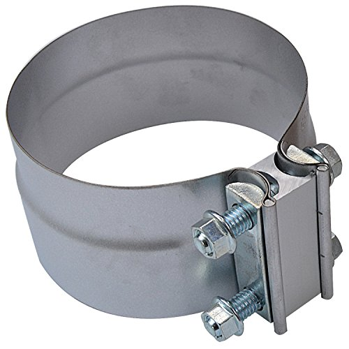 Roadformer 3 Lap Joint Exhaust Band Clamp Preformed Aluminized Steel for 3 OD to 3 ID Exhaust Pipe Connection