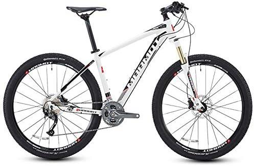 Qj Bicicletas de montaña, 27.5 Pulgadas de Big neumáticos de Bicicletas de montaña suspensión Delantera, Asiento Ajustable de Las de Bicicletas, Negro,Blanco: Amazon.es: Deportes y aire libre