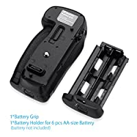 Powerextra MB-D18 Battery Grip Compatible with Nikon D850 Digital SLR Camera Work with EN-EL15 EN-EL15a EN-EL18 a/b Battery or 8 Pcs AA-Size Batteries from Powerextra