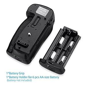 Powerextra MB-D18 Battery Grip Compatible with Nikon D850 Digital SLR Camera Work with EN-EL15 EN-EL15a EN-EL18 a/b Battery or 8 Pcs AA-Size Batteries from Powerextra