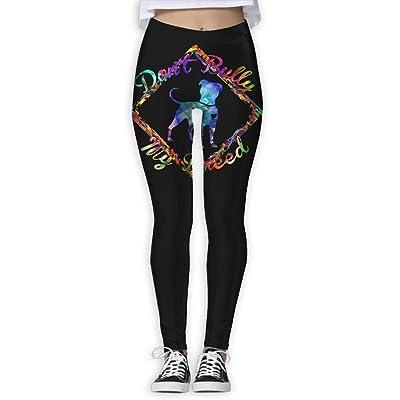 JMAKI Pantalón Deportivo, Bully My Breed Pitbull Women's Activewear High-Waist Tights Leggings Yoga Pants: Ropa y accesorios