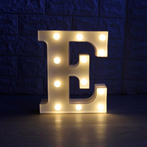 DIY Letters Marquee Sign,Battery Operated Alphabet LED Night Lights by LiCheng Bridal for Wedding Party,Holiday Decor,Gifts,Home Decor E