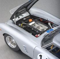 Every element of the 1961 Ferrari 250 GT SWB Competizione is faithfully replicated.