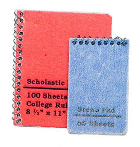 Dollhouse Miniature Spiral Notebook Set