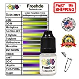 Test Narcotics - Froehde Reagent Drug Testing Kit | 7ml Bottle for up to 140 Individual Tests - LSD, 2C-B, Methylone. PMA, PMMA, and More.