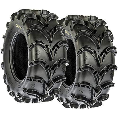 AT 27x12-12 ATV UTV Deep Mud Terrain Tires, 6 PR, Tubeless ()