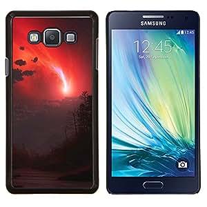 Qstar Arte & diseño plástico duro Fundas Cover Cubre Hard Case Cover para Samsung Galaxy A7 A7000 (cielo Rojo)