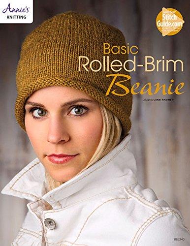 Basic Rolled-Brim Beanie Knit Pattern (Beanie Basic Brim)