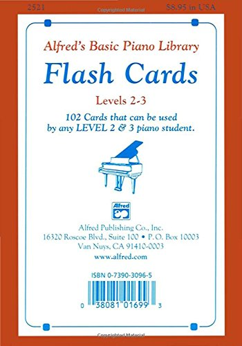 Alfred's Basic Piano Library Flash Cards, Bk 2 & 3: 102 Cards That Can Be Used by Any Level 2 & 3 Piano Student, Flash Cards