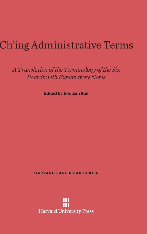 Ch'ing Administrative Terms (Harvard East Asian) pdf epub