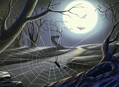 PigBangbang,20.6 X 15.1'' Premium Basswood Bright Colorful Art Pictures Jigsaw Puzzles Cartoon 500 piece Home Decoration-Halloween Spider ()