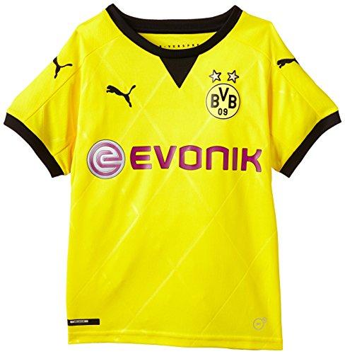PUMA Kinder Trikot BVB Ambassador Replica Shirt, Cyber Yellow/Black, 140, 748006 01