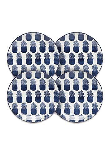 Crown & Ivy Pineapple Icon Salad Plate - Set of 4