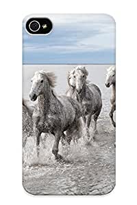 29daacf955 Inthebeauty Awesome Case Cover Compatible With Iphone 4/4s - Animals Horses