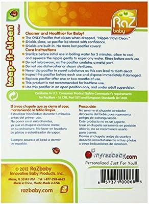 Razbaby - Chupete con cierre automático, diseño de oso: Amazon.es ...