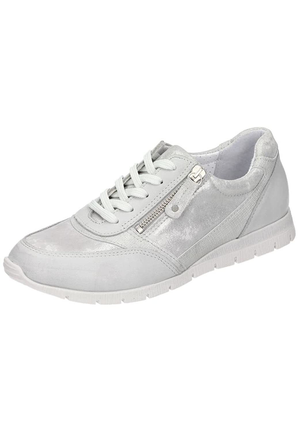 Comfortabel womens women lace up shoes silver