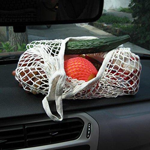 Beutel Bio-Baumwolle String-Shopping Wieder Verwendbaren Kurzen Griff Tasche Rauchiges Grau Netz