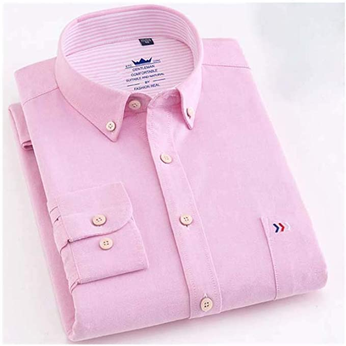 Mens Oxford Solid Pure Color 100% Cotton Business Casual Shirt ...