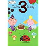 Ben and Holly Age 3 Birthday Card