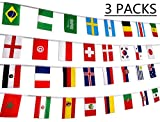 78 Feet 2018 World Soccer Game Banner Decorations Russia - 32 Countries International Flags Party Supplies