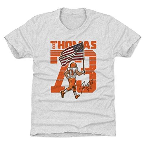 500 LEVEL Cleveland Football Youth Shirt - Kids Large (10-12Y) Tri Ash - Joe Thomas Flag O