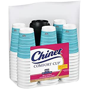 Chinet Comfort Cup 16-Ounce Cups IxjjqZ, 100-Count Cups & Lids (Assorted Colors)
