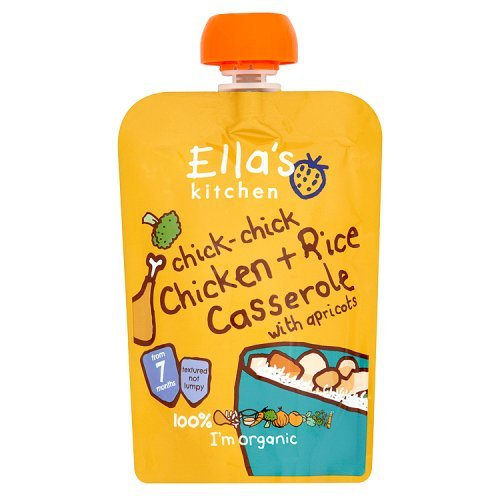 Ella's Kitchen Organic Baby Food - 7+ Months - Chick-chick Chicken Casserole with Rice - 4.9 Oz. Pouch