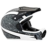 Pryme Evil Pro Full Face Helmet, Gray/White, Medium