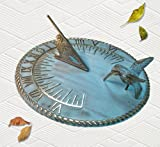 Brass Decorative Hummingbird Sundial 10'' Inches Wide