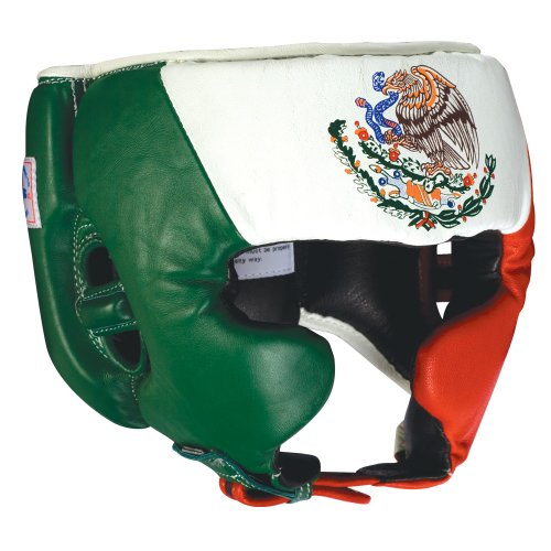 Ringside Competition Boxing Headgear with Cheeks (Mexican Flag, Large)