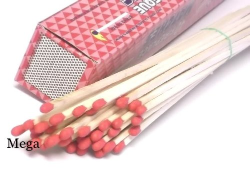 1000 Pack Wholesale Lot 11'' Long Wooden Fireplace Matches
