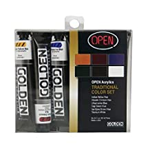 Golden OPEN Acrylic Traditional Color Set