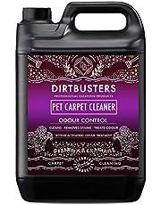 Dirtbusters Tapijtreiniger voor huisdieren van 5 liter professionele tapijt- en stofferingsextractie-shampoo met reactiverende geurbehandeling. voor alle tapijtreinigingsmachines