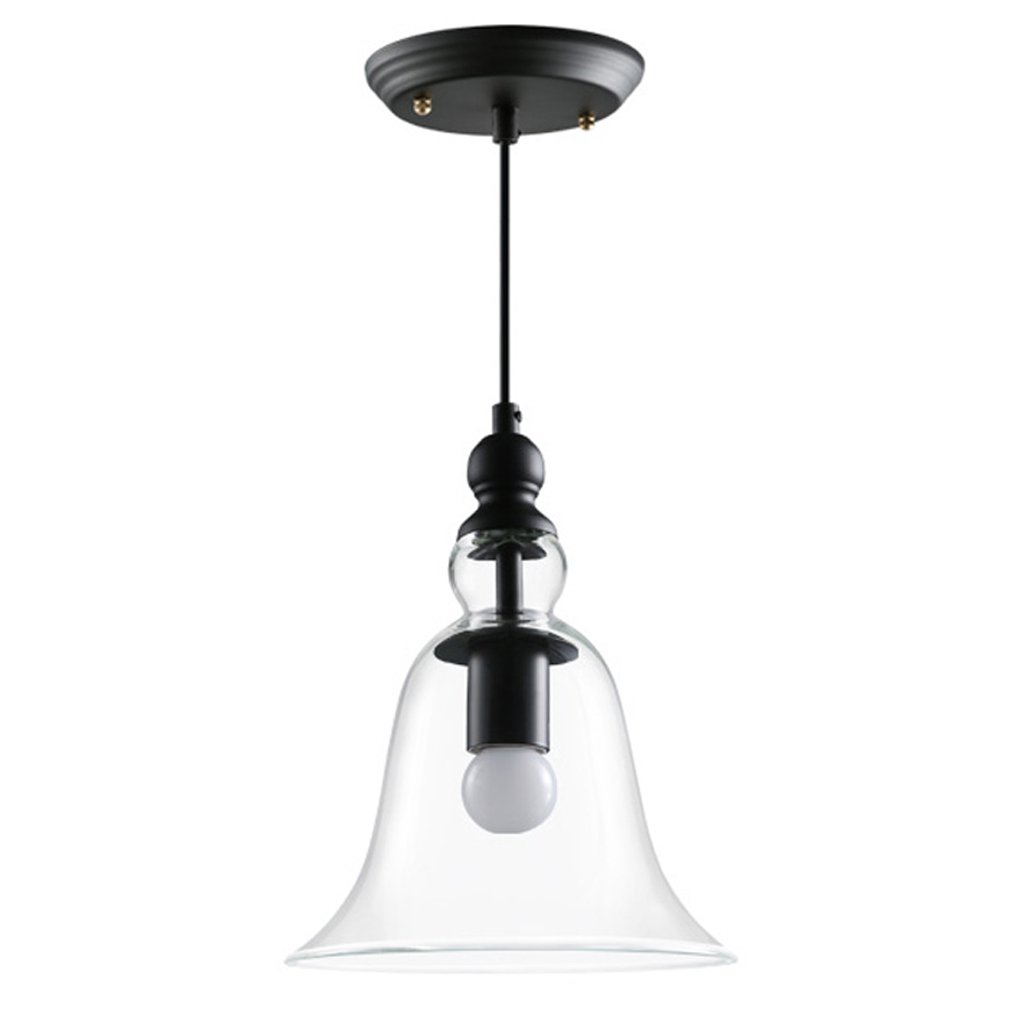 Wsxxn American Village Rustic Style Chandelier Creative Glass Lampshade Window Lighting Light Fixture Bar Lamp Personality Restaurant Cafe Bar Small Suspended Lamp