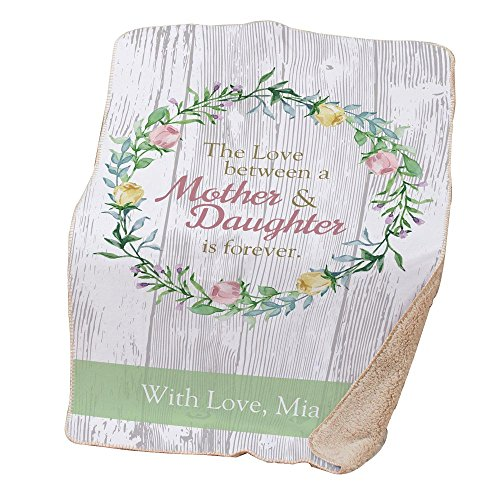 GiftsForYouNow Love Between Mother and Daughter Personalized Sherpa Throw ()