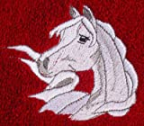 Bath Towel Set with Embroidered Arabian Horse