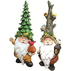 Harmony Code Unique Garden Gnomes Statues - 2 Garden Gnome Set