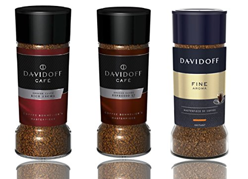 Davidoff Café Rich Aroma, Fine Aroma & Espresso 57 Instant Coffee, 3 Jars Bundle 3.5oz/100g Each ()