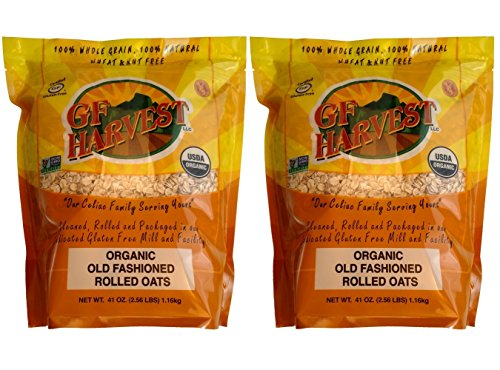 GF Harvest Traditional Rolled Oats, Gluten Free, 41 Ounce Bag (Pack of 2)