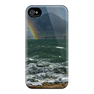 Top Quality Protection Rainbow In Coles Bay Tasmania Australia Case Cover For Iphone 4/4s