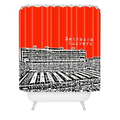 DENY Designs Bird Ave Nebraska Huskers Red Shower Curtain, 69 by 72-Inch by DENY Designs