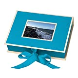 Pierre Belvedere Semikolon Small Photo Box, Ribbon Tie Closure, Turquoise (31519)