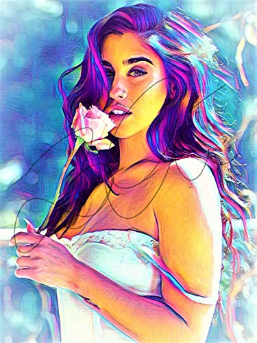 Lauren Jauregui Abstract Drawing Print Poster Hand Drawn Pop Art Vibrant Painting #LAUREN_ABSTRACT2