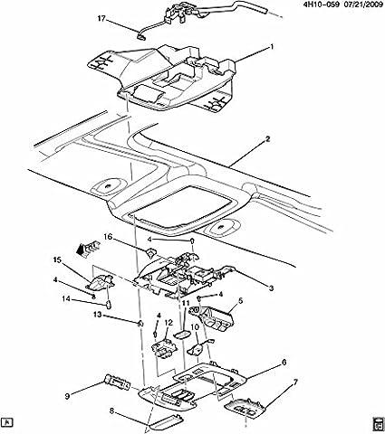Amazon Com 2006 2011 Cadillac Dts Overhead Console Dome Light Shale