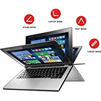 Lenovo Yoga 2 11.6 Convertible 2-in-1 Touchscreen Laptop, Intel Core i3-4012Y Processor, 4GB RAM, 500GB HDD, WiFi, Webcam, HDMI, Bluetooth, No DVD, Windows 10