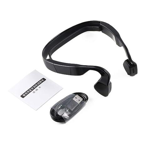 Audífonos inalámbricos de conducción ósea Bluetooth 4.0 Auriculares Auriculares Estéreo Música Micrófono Audífonos Liberación del oído