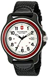 Victorinox para hombre 249087 XL original negro reloj de acero inoxidable, Red/White XL, Watch Only
