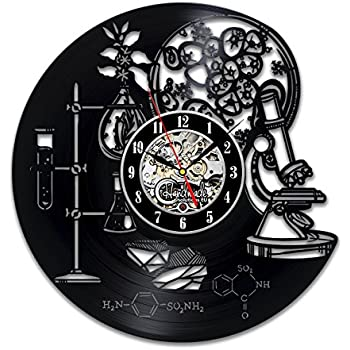 Amazon chemistry study science school formula college vinyl biology chemistry science circle vinyl wall clock art home decor interior design childrens room living bedroom urtaz Images