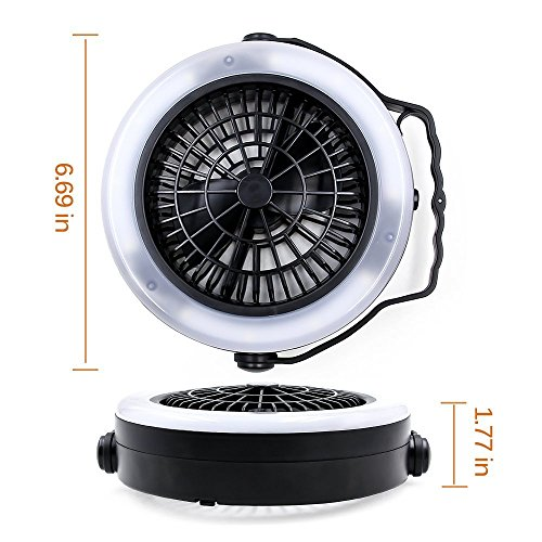 VEEAPE LED Camping Lantern, USB Rechargeable Tent Light with Ceiling Fan(2rd Generation), The One of Best Camping Gear for Emergency, Hurricane, Power Outage by VEEAPE (Image #4)